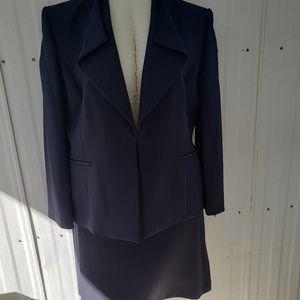 Preston & York Navy Blue Suit Skirt Sz 18